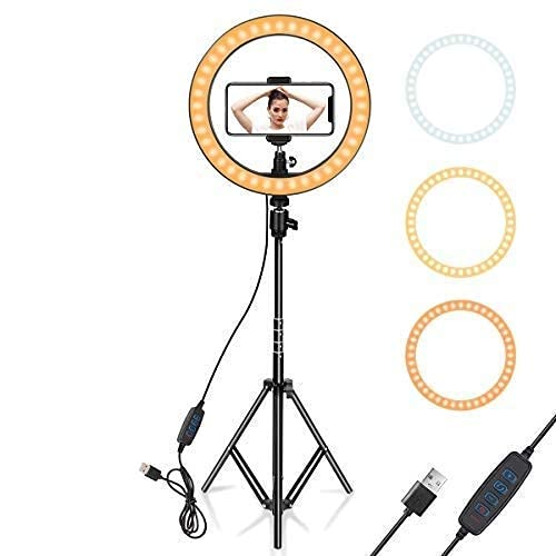 EXZZER 18 Inch Selfie LED Ring Light with 7 Feet Tripod Stand & Remote for Photo Studio and Lighting and Video Shooting
