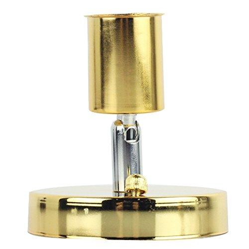 Rétro minimaliste plafonnier 1 ampoule réglable Direction Design Vintage simple Plafonnier éclairage lampe en fer pour plafond cuisine couloir Appartement Loft Galerie entrée Ø10 cm E27 Or