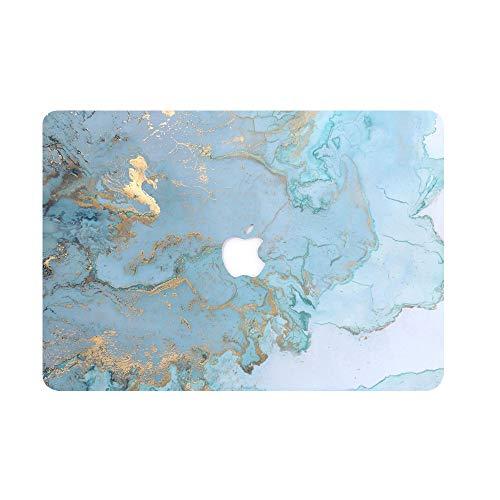 AQYLQ Funda Dura para 2017/2016 MacBook Pro 13 Pulgadas con/sin Touch Bar A1706 / A1708 - Ultra Delgado Carcasa Rígida Protector de Plástico Cubierta, DL 41 -Mármol Azul