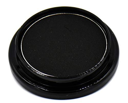True Black Night Smokey 100 Pure Jet Black Eye Shimmer Pressed Powder Eye Shadow Eyeshadow Talc & Paraben Free Vegan No Animal Testing & Cruelty Free