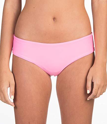 Hurley W Hipster Surf Bottom Partes de Abajo Bikini, Mujer, Pink Glow, M