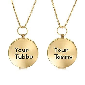 CusGifta boussoles de navigation d'extérieur avec rabat, chiffres luminescents, boussole en laiton avec chaîne, portable, étanche, pour randonnée/camping/survie, Boussole avec Tommy & Tubbo