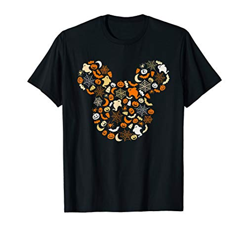 Disney Mickey Mouse Halloween Ghosts Pumpkins Spiders T-Shirt
