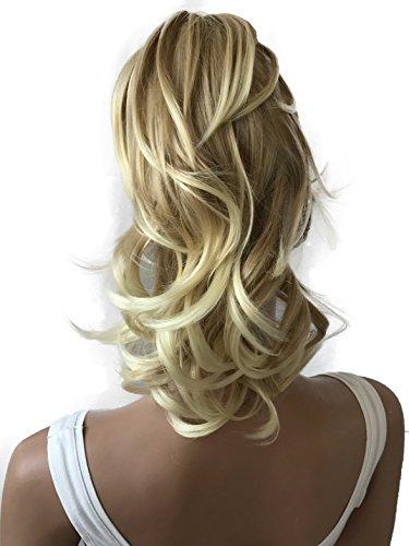 PRETTYSHOP Voluminosa corrugado peluca peluca trenza cola de