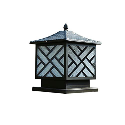 Wybfztt-188 Lámpara de puerta al aire libre Lámpara de poste de cerca Lámpara de pilar cuadrado popular Lámpara de columna impermeable Retro al aire libre Jardín Balcón Villa Lámparas de pasillo comun