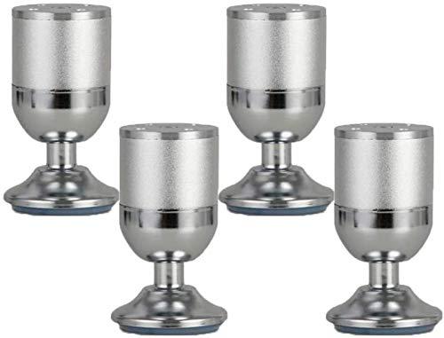 MNZDDDP Muebles pies Adiustable mesa de metal Pies de muebles de aleación de aluminio Pies de repuesto Ronda Muebles Risers Copa Piernas Couch inferior Sofá cama escritorio Piernas Gabinetes Risers 4p