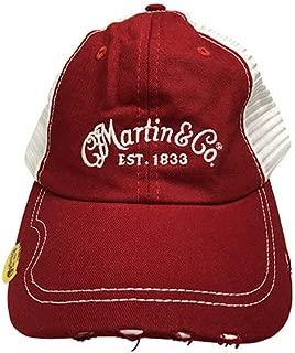 Martin Guitars Pick Hat, Red Cap with White Mesh