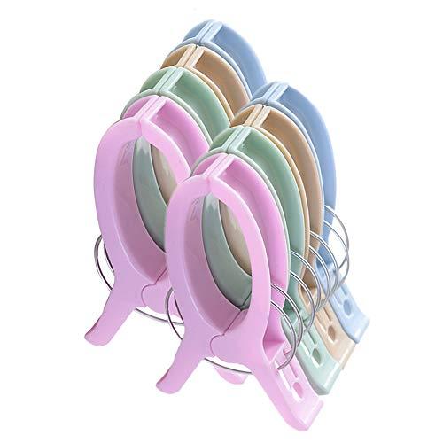 sinzau 8 PCS Jumbo Größe Strandtuch Clips, Vier Farben Wäscheklammern Kunststoff Clips Handtuch Klammer für Strand Pool tägliche Wäsche, schwere Badetuch etc