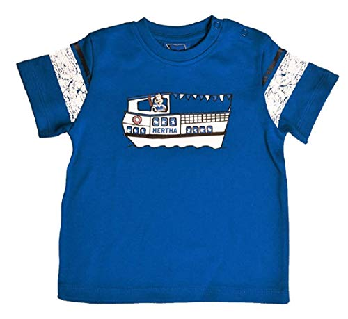 Hertha BSC Berlin Dampfer Kids T-Shirt (92/98, blau)