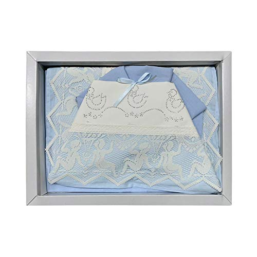 NADA HOME Juego de sábanas para cuna de algodón, diseño de emoticonos pequeños, 3832