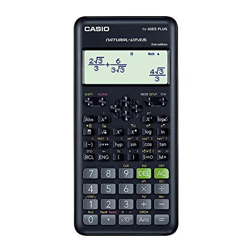 Casio FX-82ES Plus 2nd Edition - Non-Programmable Scientific Calculator, 252 Functions