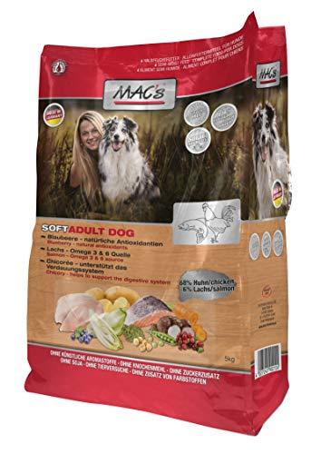 MAC'S SOFT Halbfeuchtfutter CHICKEN & SALMON getreidefrei für Hunde 5,0kg