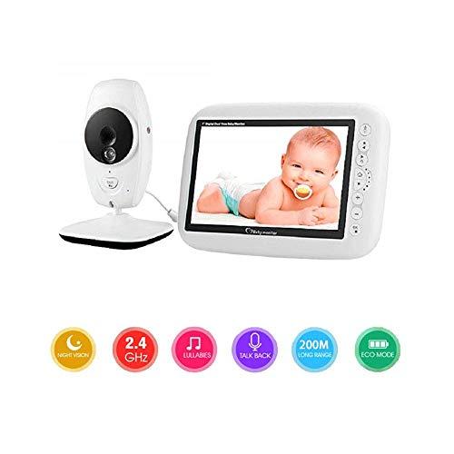 bxbx Babyphone Mit Kamera 7 Zoll HD-Bildschirm Mit Drahtlosem Objektiv, Temperaturüberwachung Und Bewegungserkennung, Zweiwege-Audio-Gegensprechanlage