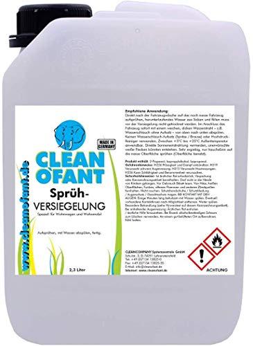 CLEANOFANT Sprüh-VERSIEGELUNG 2,3 Liter - für Wohnwagen Wohnmobil Caravan. Zum Versiegeln von Lack Gelcoat GFK Strukturblech Wabenblech Dach Folien