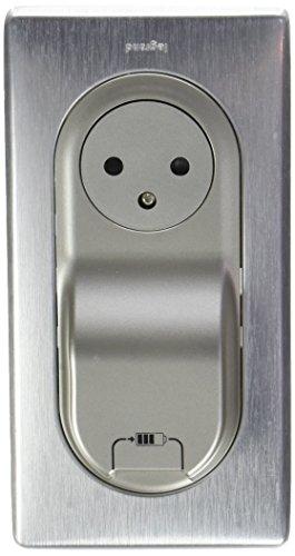 Legrand 200237 Céliane Surface Socket + Cargador USB con placa + Caja 1 poste, Aluminio