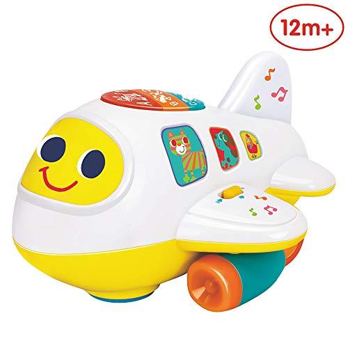 ANIKI TOYS Baby elektronisches Flugzeug Licht und Musik pädagogisches Spielzeug für Kinder für Kleinkinder Jungen und Mädchen 1 2 3 4 5 Jahre alt
