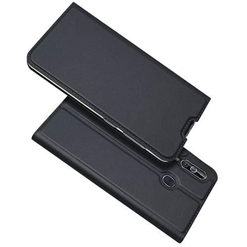 BoxTii Coque Galaxy A60, Cuir Étui Wallet Housse avec Fermeture Magnétique et Support Stand Fonction pour Samsung Galaxy A60 (Noir)