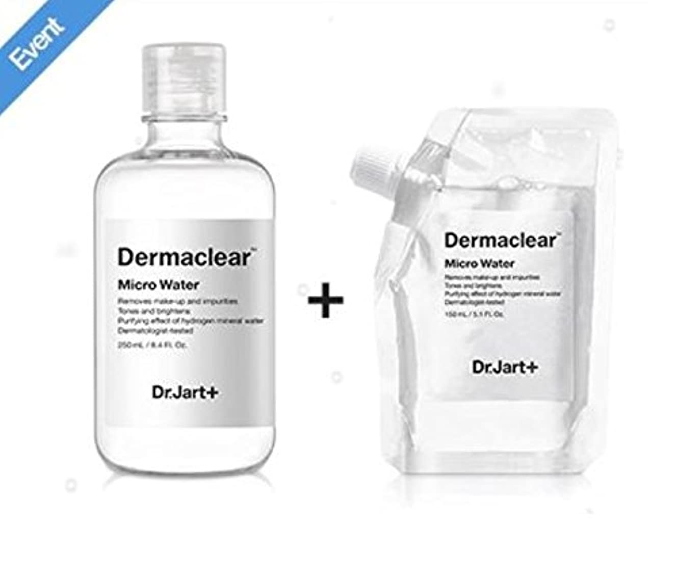 暴行湿った召集するドクタージャルト[韓国コスメ Dr.Jart+]ダーマクリア マイクロ ウォーター250ml+150ml(リフィル) [korean cosmetic Dr.Jart+]Dermaclear Micro Water (250ml+150ml) [並行輸入品]