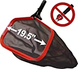 Pool Net for Cleaning - ProTuff: Unlimited Free Replacements - 3X Faster Pro Grade Swimming Pool Leaf Skimmer Rake for Small & Large Debris Skimming - 19.5
