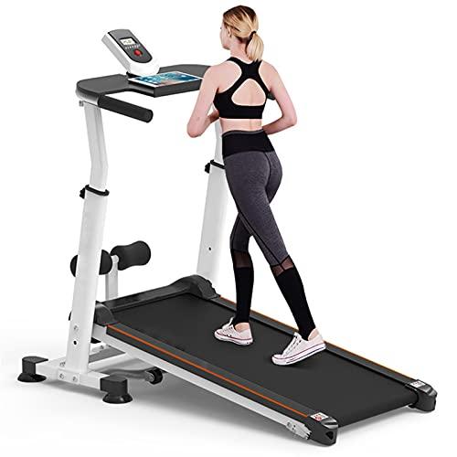 FHW Mechanisches Heimlaufband, Aerobic-LaufgeräT, Verstellbare Armlehnen, Leise Mini-Klappmodelle, Kleine FitnessgeräTe,Weiß