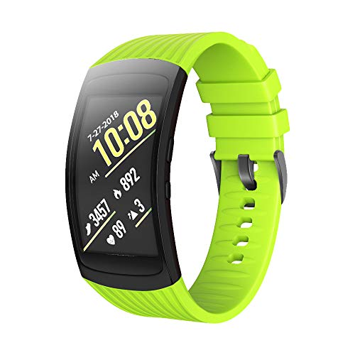 ANCOOL Compatible Samsung Gear Fit2 Pro Band/Gear Fit 2 Bands, Replacement Silicone Smartwatch Bands Compatible Samsung Gear Fit2 Pro (Small, Green)