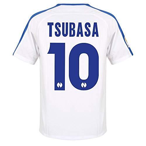 Captain Tsubasa Nr.10 Nankatsu Shogaku Offizielle Home Trikot 1 (weiß/blau) - L