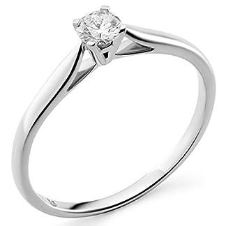 Anillo compromiso solitario diamante Orphelia