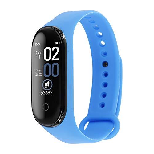SHANGXIN Rastreador de Ejercicios Reloj de Seguimiento de Actividad con Monitor de Frecuencia Cardíaca Banda de Fitness Inteligente Impermeable Ip67 con Contador de Pasos Reloj con