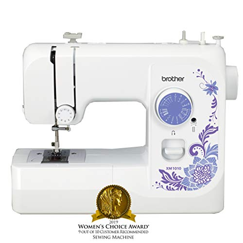 Brother Sewing Machine, XM1010, 10-Stitch Sewing Machine, Portable Sewing Machine, 10 Built-in...