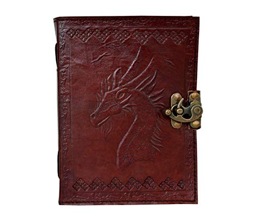 Leather Journal Notebook Game of Thrones Dragon Embossed Retro Writing Handbook Handmade Diary Appointment Organizer Daily Planner Notepad Travel Diary Sketchbook 6 x 8 inches for Men and Women
