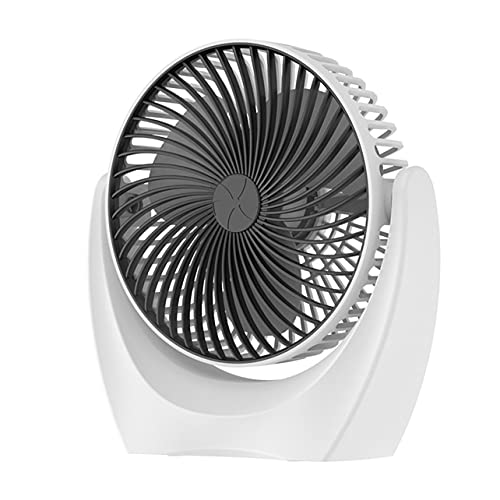 MARSPOWER Ventilador de Escritorio USB Compacto Ventilador de Mesa de Escritorio de tamaño Compacto con Viento Fuerte Operación silenciosa Mini Ventilador portátil para Dormitorio de Oficina