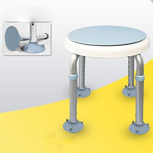 IAIZI - Taburete de ducha con altura ajustable para mujeres embarazadas, antideslizante, aleación de aluminio, antideslizante, con silla giratoria y asiento de baño (color: Big Sucker)
