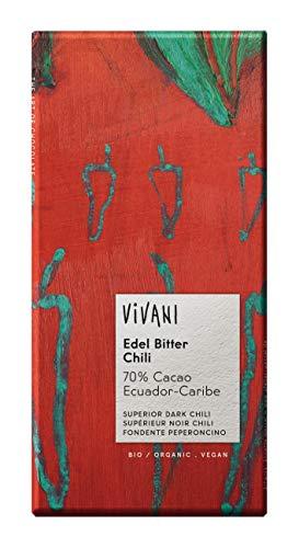 Vivani - Chocolat Noir Supérieur au piment, 70% de Cacao*