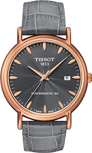 Tissot Herren Analog Automatik Uhr mit Leder Armband T907.407.76.081.00