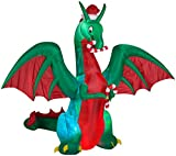 Gemmy Christmas Inflatable 9' Projection Kaleidoscope Giant Dragon | Airblown Inflatable