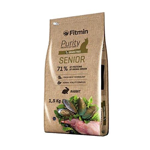 Fitmin Alimentación Cats Purity Senior. Alimento Completo para Gatos Ancianos (Más De 8 Años) con Suplementos Nutricionales para Una Buena Salud