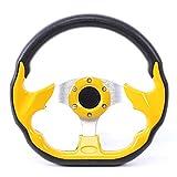 Volante da corsa, 320 mm / 12,5 pollici in fibra di carbonio in pelle PVC Volante sportivo...