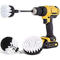Hiware 4-Piece Drill Brush Car Detailing Kit with Extend Attachment