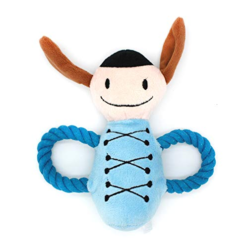 zhenleisier Pet Toys,Pet Cats Kitten Catnip Cute Cotton Rope Plush Doll Squeaky Chew Toy Teeth Cleaning Interactive Hunting Exerccise Need Toy Blue