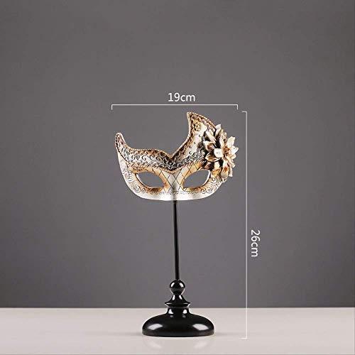 BSDSASD decoratie, vintage creatief oud zilver masker hars ambacht cadeau ornamenten huis voorbeeld Board kamer decoratie geschenken