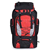 The Hot Rock Men's 80L Large Waterproof Climbing Hiking Backpack Camping Mountaineering Backpack Sport Outdoor Rucksack Bag,Red