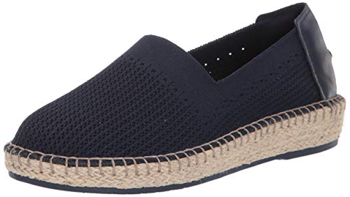 Cole Haan Women's Cloudfeel Stitchlite Espadrille Loafer Flat, Marine Blue Knit/Leather/Natural Jute, 5