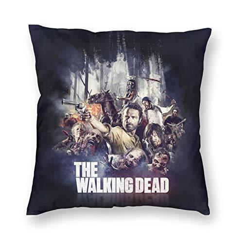 The Walking Dead Funda de Almohada Personalizadas sofá con Cremallera cojín Fundas de Almohada 18x18 Pulgadas