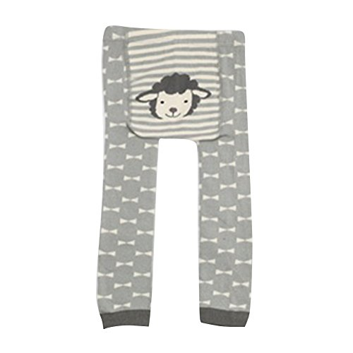 Collants pour bébés tout-petits, Meedot Coton Collants pour bébés Body-Stocking Ninth Leggings Grey Lamp S/0-2 years