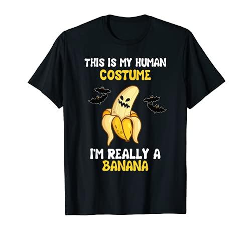 Disfraz de pltano espeluznante para Halloween, divertido amante de Camiseta