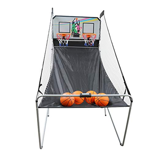 Aoneky Indoor Home Dual Shot Basketball Arcade Game - Kids Electronic Basketball Game - Official Folding Basketball Hoop Arcade Game with Scoreboard