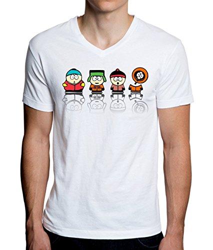 South Park Heroes Graphic Design Men's V-Neck T-Shirt Large
