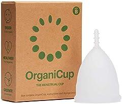 Copa menstrual OrganiCup - Talla B/grande - Ganadora del los AllergyAwards 2019 - Aprobada por la FDA - Silicona suave, flexibe y reutilizable de grado medicinal