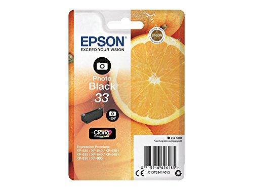 Epson C13T33414012 Claria Premium Cartouche d'encre d'origine Noir Amazon Dash Replenishment est prêt