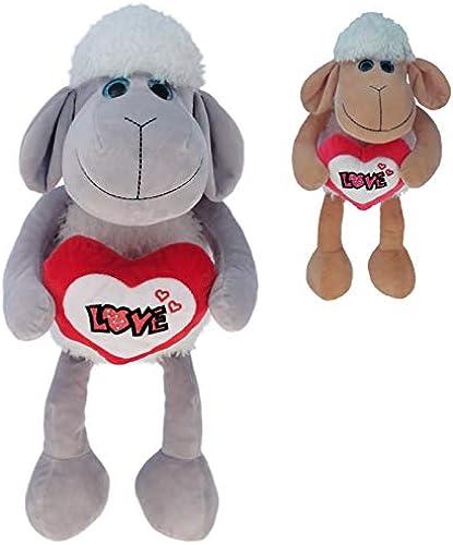 Kingdiscount 48 Stück Plüsch Schaf mit Herz  Dolly  25 cm